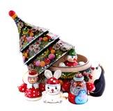 Het speelgoed van Woddenkerstmis Stock Foto