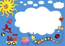 Het speelgoedframe van de reclame stock illustratie