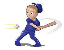 Het SpeelHonkbal van het kind met een knuppel Stock Afbeeldingen