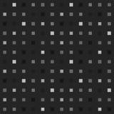 Het speelse naadloze patroon van het grayscalepixel Stock Fotografie