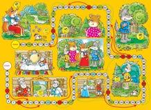 Het spel âRoly-Polyâ van de raad stock illustratie