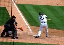 Het spel 11 Juli, 2010, Alex Avila van tijgers Stock Afbeelding
