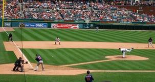 Het spel 11 Juli 2010 van tijgers, Brad Thomas en Jason K Stock Afbeeldingen