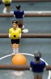 Het spel dichte omhoog verticaal van Foosball Stock Foto's