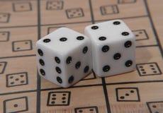 Het spel dobbelt Royalty-vrije Stock Foto's