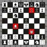 Het spel snelste manier van de schaakschaakmat om beginnersspelers te winnen Stock Afbeelding