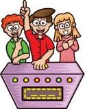 Het spel toont Mededingersbeeldverhaal vector illustratie