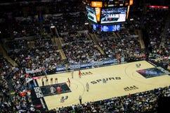 Het spel van aansporingenraketten NBA Royalty-vrije Stock Foto