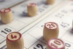 Het spel van bingo Stock Foto