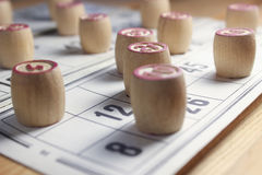 Het spel van bingo Stock Afbeelding