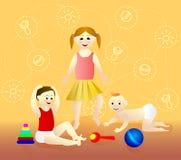 Het Spel van Childs Het karakter van het beeldverhaal Royalty-vrije Stock Foto's