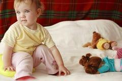 Het spel van de baby stock foto