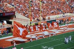 Het spel van de de universiteitsvoetbal van Texas longhorns Stock Afbeeldingen