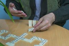 Het spel van de domino Royalty-vrije Stock Afbeelding