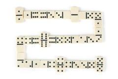 Het spel van de domino Stock Foto's