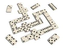 Het spel van de domino Royalty-vrije Stock Foto