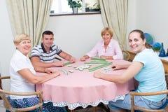 Het spel van de familie Royalty-vrije Stock Fotografie