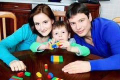 Het spel van de familie Royalty-vrije Stock Afbeeldingen