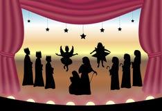 Het Spel van de geboorte van Christus royalty-vrije illustratie