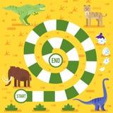 Het spel van de jonge geitjesraad met dinosaurussenmalplaatje Royalty-vrije Stock Fotografie