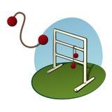 Het spel van de ladderworp Stock Foto's