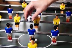 Het spel van de lijst foosball stock foto