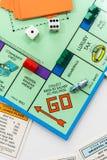 Het spel van de monopolieraad in spel royalty-vrije stock afbeelding