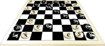 Het spel van de munt Stock Foto's