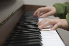 Het spel van de piano Royalty-vrije Stock Afbeeldingen