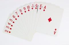 Het spel van de pook van kaarten met hoogtepunt - schaal Stock Afbeeldingen