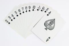 Het spel van de pook van kaarten met hoogtepunt - schaal Royalty-vrije Stock Afbeelding