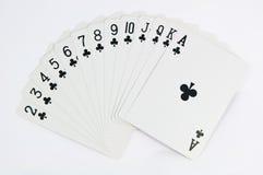 Het spel van de pook van kaarten met hoogtepunt - schaal Royalty-vrije Stock Foto's