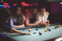Het Spel van de pool royalty-vrije stock afbeeldingen