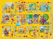 Het spel van de raad âBuratinoâ Stock Afbeelding