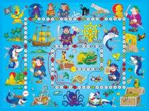 Het spel van de raad âPiratesâ Royalty-vrije Stock Fotografie