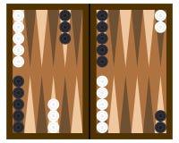 Het Spel van de Raad van het backgammon Stock Afbeeldingen