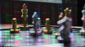 Het spel van de schaakraad en digitale grafiek, het concept van strategieideeën stock illustratie