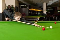 Het spel van de snooker stock foto's