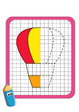 Het spel van de symmetrie, luchtballon royalty-vrije illustratie