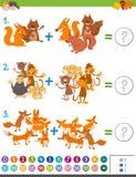 Het spel van de toevoegingswiskunde voor jonge geitjes stock illustratie