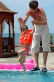 Het spel van de vader met dochter Royalty-vrije Stock Foto