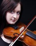 Het spel van de viool Stock Foto's