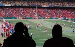 Het Spel van de voetbal Stock Foto