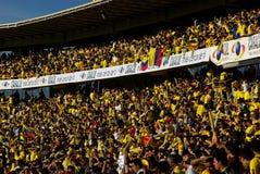 Het spel van de voetbal in Colombia Stock Afbeeldingen