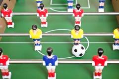 Het Spel van de Voetbal van de lijst stock foto