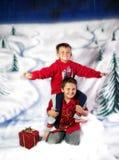 Het spel van de winter Stock Afbeeldingen