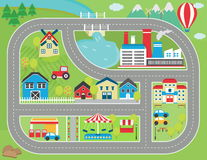 Het spel van het autospoor placemat Royalty-vrije Stock Foto