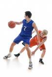 Het spel van het basketbal Royalty-vrije Stock Foto's
