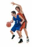Het spel van het basketbal Stock Afbeelding