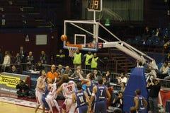 Het spel van het basketbal Royalty-vrije Stock Foto